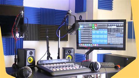 radio station equipment   professional studio setup