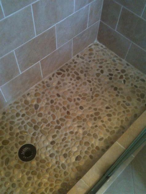 river rock tile for shower floor   Home Decor