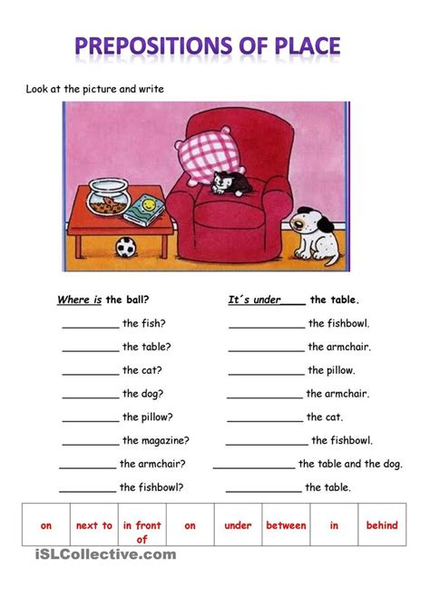 prepositions of place 1 186 eso worksheets