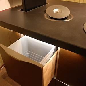 Poubelle Plan De Travail : ilot cuisine sur mesure porte de meuble de cuisine sur ~ Dailycaller-alerts.com Idées de Décoration