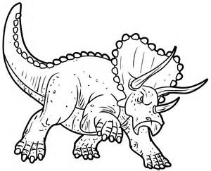 Coloriage Dinosaure Triceratops 1001 Animaux