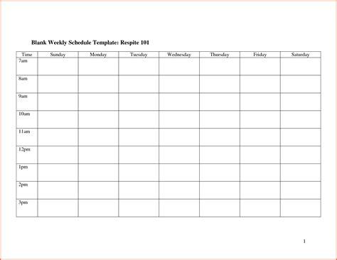 blank weekly calendar template survey template words