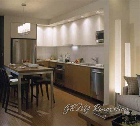recessed lights  overhanging soffit kitchen ideas
