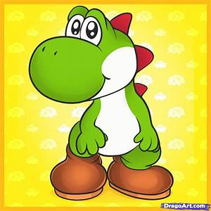 How to Draw Yoshi, Step by Step, Video Game Characters ...