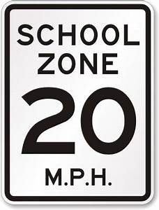 School Zone Signs - Slow Down School Signs