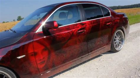 car paint bmw  serie candy red youtube