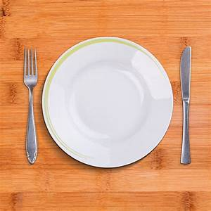 Top view of empty plate | Empty plate, Plates, Food photography background