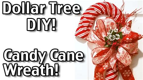 candy cane wreath dollar tree diy