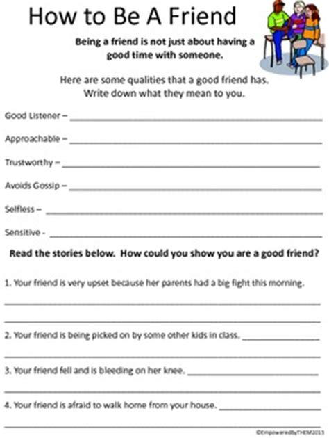 friends social skills worksheets  empowered   tpt