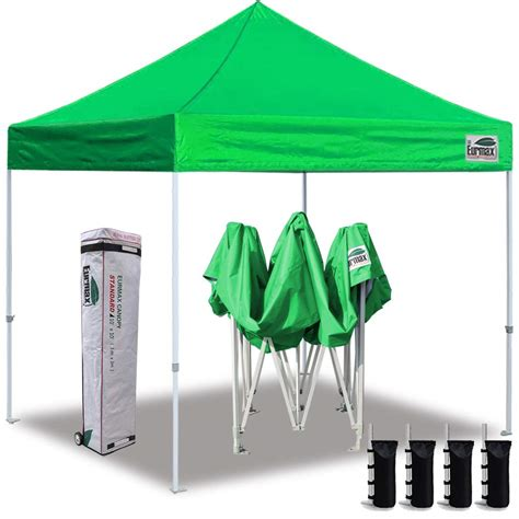 eurmax  ez pop  canopy tent commercial instant canopies  roller bagbonus  sand