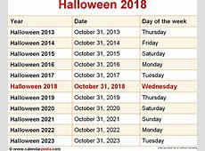 When Is Halloween 2018 2019 Dates Of Halloween Qualads