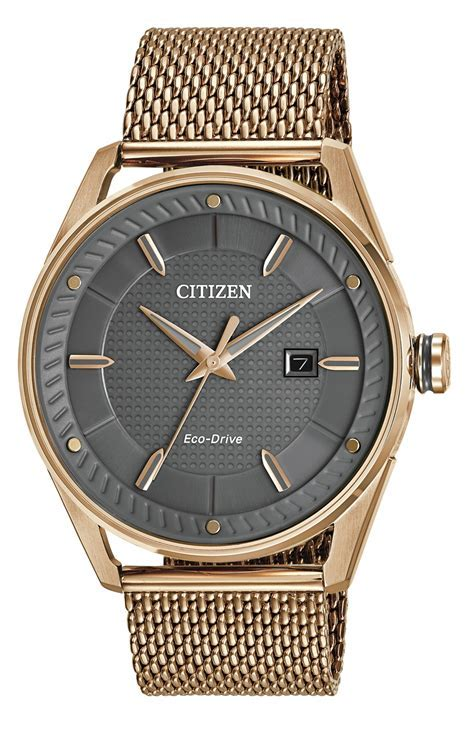 Citizen Eco Drive CTO Rose Gold Tone Mens Watch   BM6983 51H