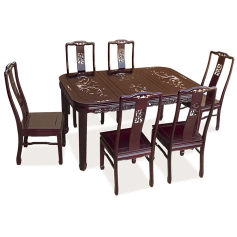 60in rosewood flower design dining table w6 chairs in 2019