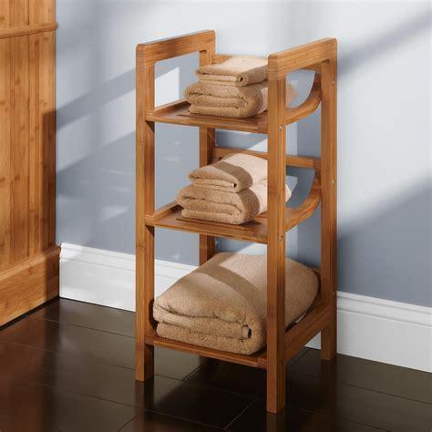 bathroom organizers ideas three tier bamboo towel shelf bathroom