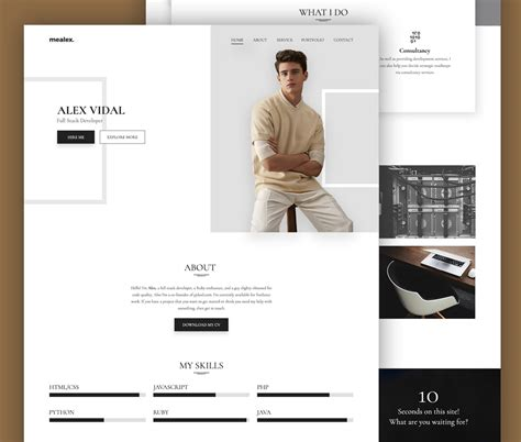 Resume Website Free by Portfolio And Resume Website Template Free Psd Psd