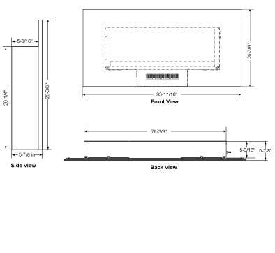 simplifire wall mount electric fireplace series heatilator