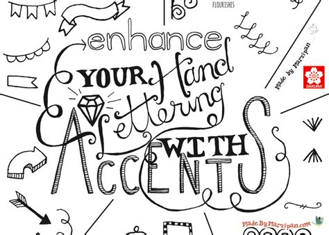 hand lettering lettering accents tutorial made by marzipan