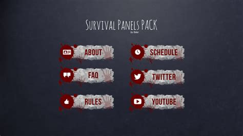survival panels pack basic panels package styled