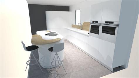 en cuisine une cuisine futuriste blanche à découvrir absolument