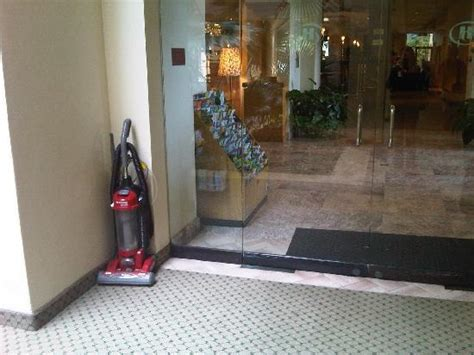 vacuum stored next to lobby made me feel like i was