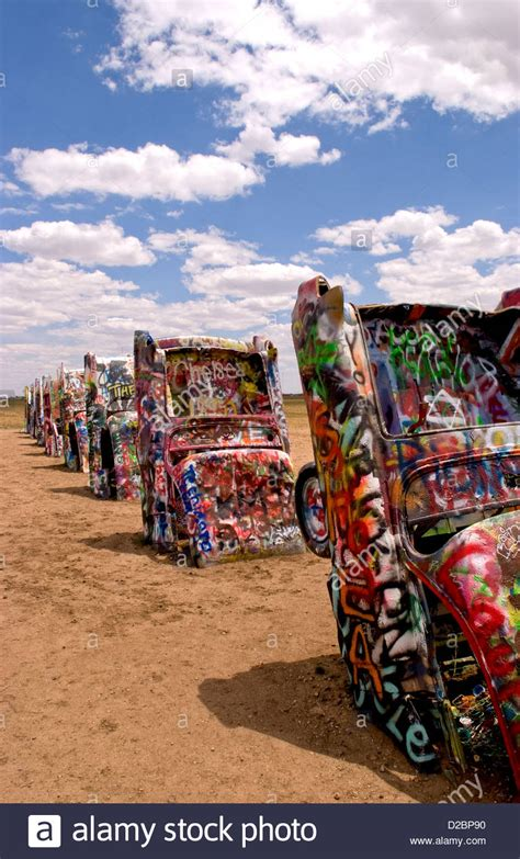 Cadillac Ranch Ct by Buried Stock Photos Buried Stock Images Alamy