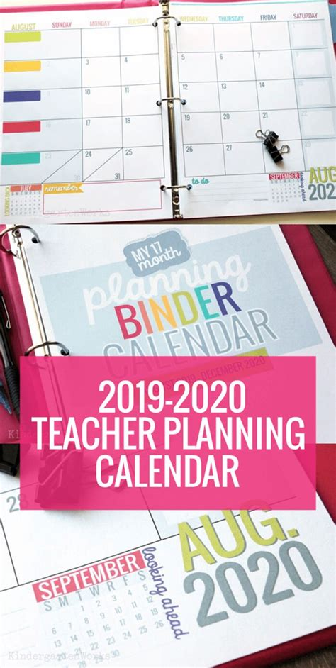 printable calendar template instant downloads teacher