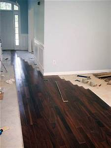 How to install diy glue down engineered hardwood flooring for How to put down hardwood floors