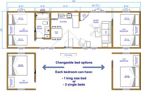 cabin floor plans  bedrooms click floor plan