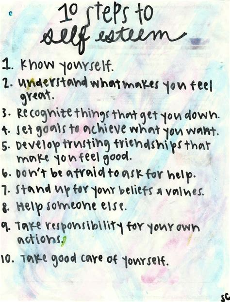 Self Improvement Tips 10 Steps To Self Esteem Pictures, Photos, And Images For Facebook, Tumblr