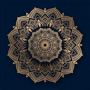 Luxury, Ornamental, Mandala, With, Golden, Islamic, Pattern, In