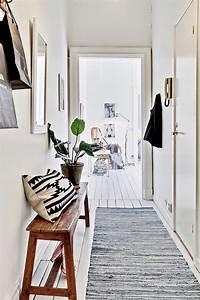 18 idees pour la peinture du couloir photos astuces With tapis couloir avec canapé avec pied en bois