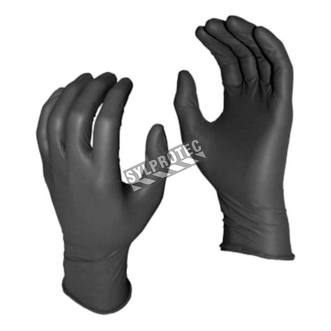 grease monkey pf  mil powder  black nitrile gloves