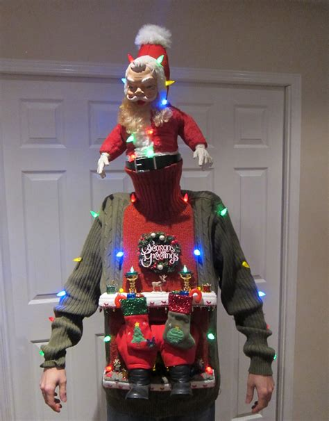 ugly christmas sweater diy stuck   chimney