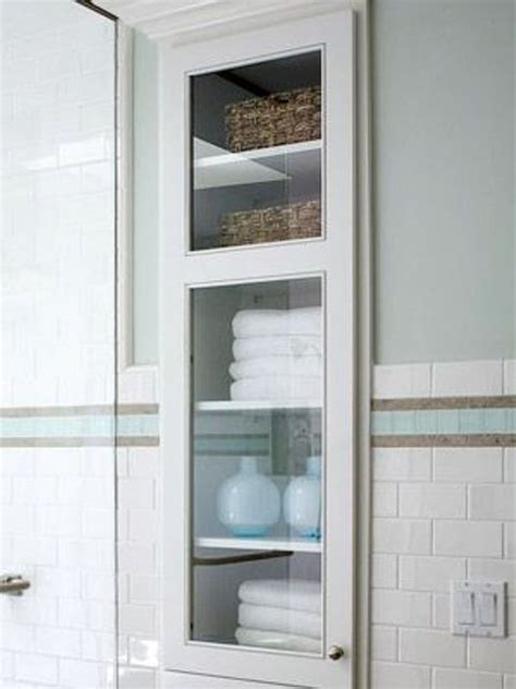 built in bathroom cabinets 29 best in wall storage ideas to save your space shelterness