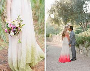 dip dye ombre wedding dresses With dip dye wedding dress