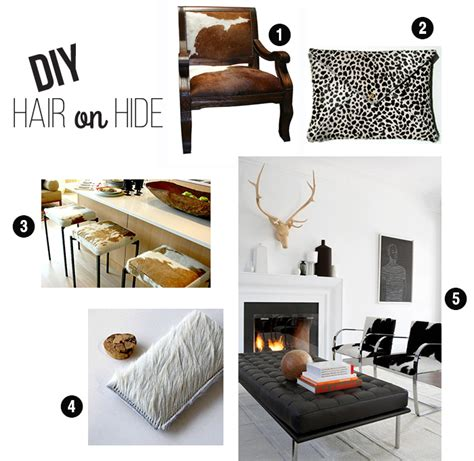 hair on hide chair makeover tutorial leather