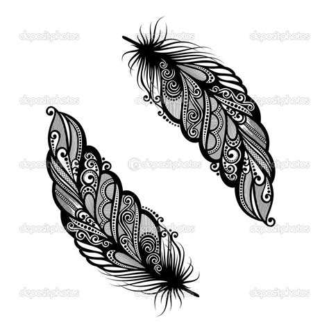 plumes decoratives hors pair illustration