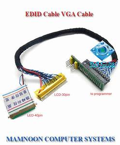 Edid Cable Vga Cable Lcd Led Screen Chip Data Read Line For Bios Programmer