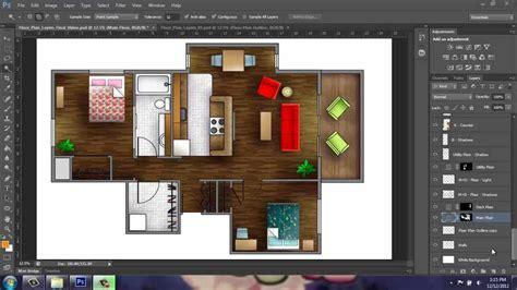 adobe photoshop cs rendering  floor plan part