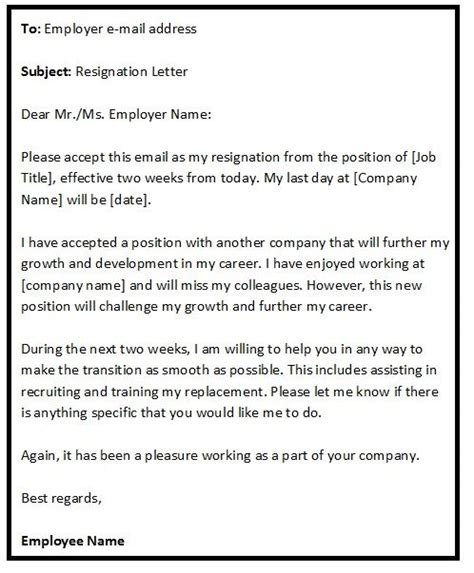 ideas  resignation sample  pinterest
