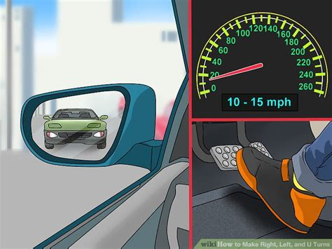 3 ways to make right left and u turns wikihow