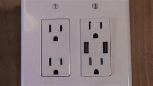 How To Wire A Double Receptacle  Mid Circuit With Usb
