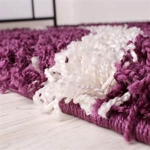 Teppich Lila Weiß : shaggy teppich hochflor langflor gemustert in lila schwarz weiss ebay ~ Indierocktalk.com Haus und Dekorationen