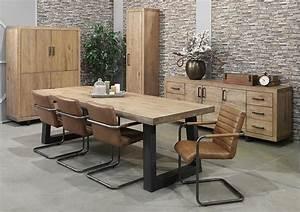 table salle a manger bois et metal kirafes With deco cuisine avec table salle a manger bois metal