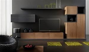 Meuble Tele Moderne : ensemble meuble tv design buffet notte mobilier design pour salon moderne en bois ~ Teatrodelosmanantiales.com Idées de Décoration