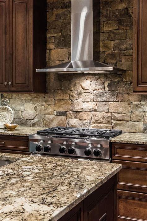 cool stone  rock kitchen backsplashes  wow digsdigs