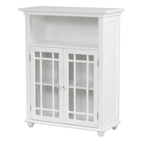 Furniture Pretentious White Storage Cabinet With Doors