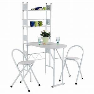 Table Pliante De Cuisine : set table 2 chaises pliantes jonathan blanc ~ Teatrodelosmanantiales.com Idées de Décoration