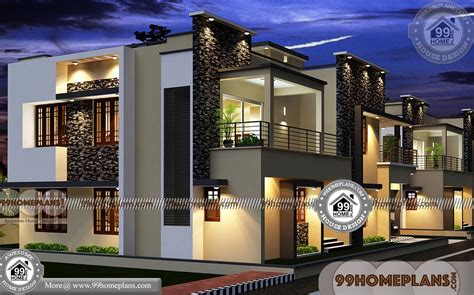 Villa Home Plans by Modern House Plans Two Floored Best Rectangular