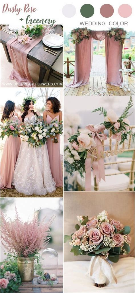 Top 6 Dusty Rose Hochzeit Farbpalette Inspiration in 2020